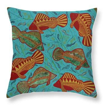 Large Barramundi Swimming  Throw Pillow