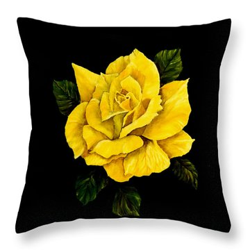 Large Yellow Rose Throw Pillow