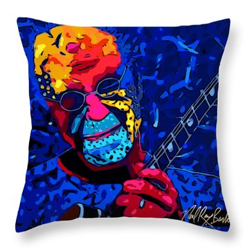 Larry Carlton Throw Pillow