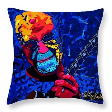 Larry Carlton Throw Pillow