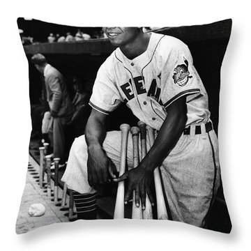 Larry Doby (1923-2003) Throw Pillow by Granger