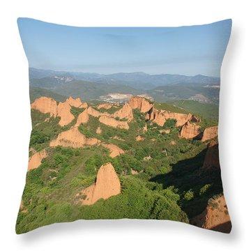 Las Medulas Throw Pillow