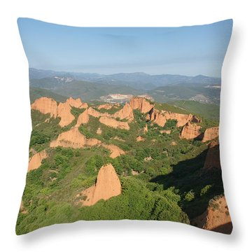 Throw Pillow featuring the photograph Las Medulas by Christian Zesewitz