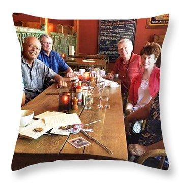 Lassen Hall Reunion Throw Pillow