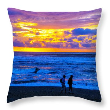 Throw Pillow featuring the photograph Last Light by Rick Bragan