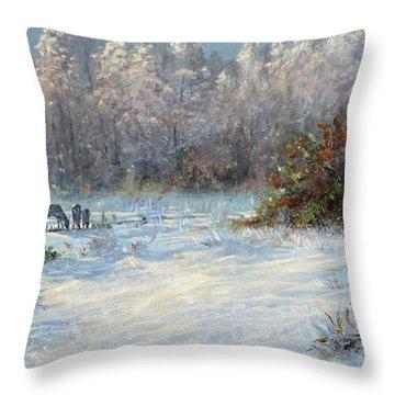 Last Snow Throw Pillow