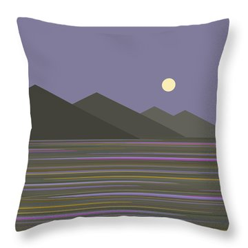 Throw Pillow featuring the digital art Lavender Sky  Reflections by Val Arie