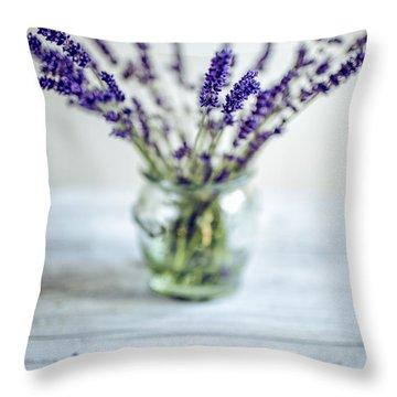 Lavender Still Life Throw Pillow