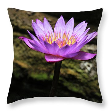 Lavender Water Lily #4 Throw Pillow