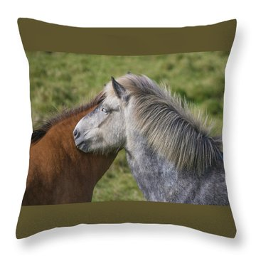 Throw Pillow featuring the photograph Lean On Me by Elvira Butler