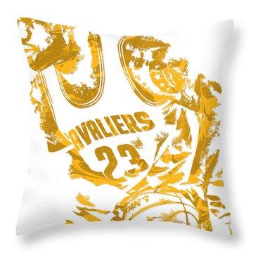 Lebron James Cleveland Cavaliers Pixel Art 7 Throw Pillow