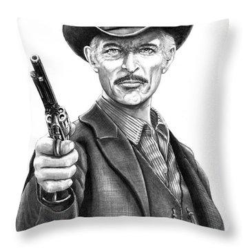 Lee Van Cleef Throw Pillow by Murphy Elliott