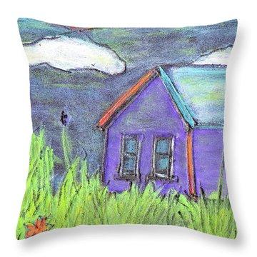 Left Behind Throw Pillow by Wayne Potrafka