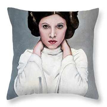 Leia Throw Pillow by Tom Carlton