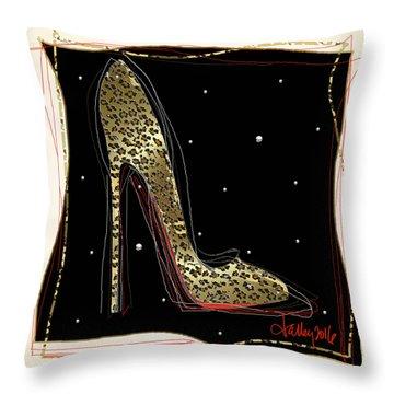 Leopard Louboutin Throw Pillow