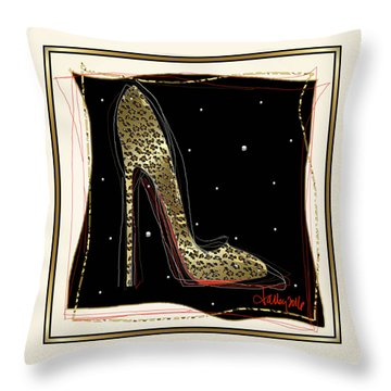 Leopard Louboutin Throw Pillow