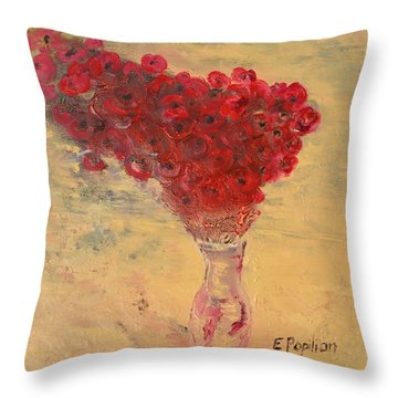 Lest We Forget Throw Pillow by Evelina Popilian