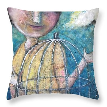 Let It Go Throw Pillow by Eleatta Diver