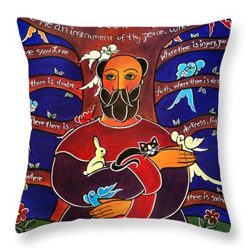 Let Me Sow Love Throw Pillow