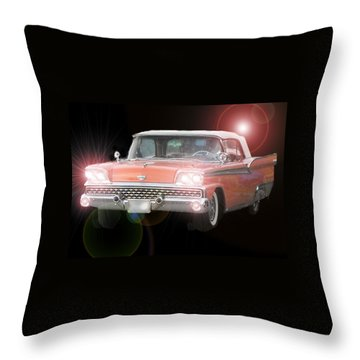 Let's Go Throw Pillow by David and Lynn Keller
