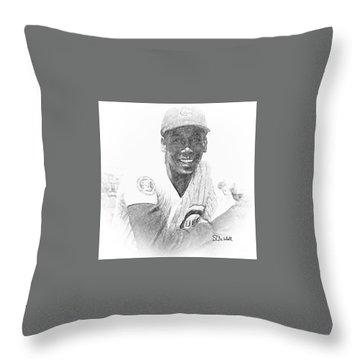Ernie Banks Throw Pillow