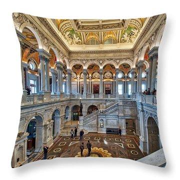 Library Of Congress Throw Pillow
