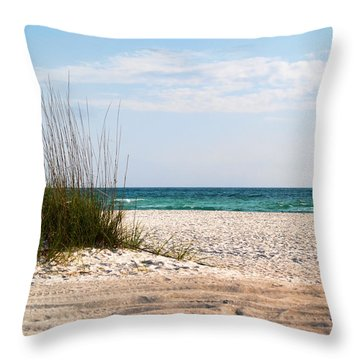 Throw Pillow featuring the photograph Lido Beach by Athala Carole Bruckner