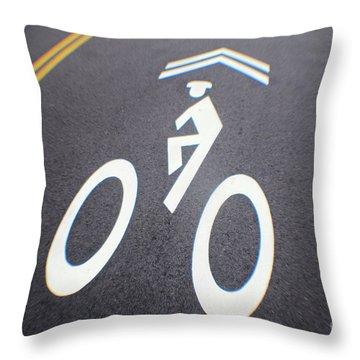 Life In The Bike Lane Throw Pillow