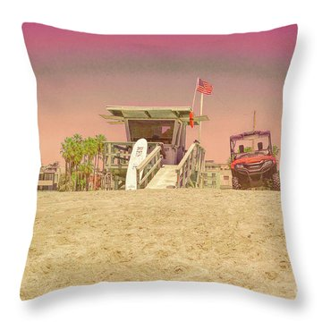 Lifeguard Tower 3 Throw Pillow