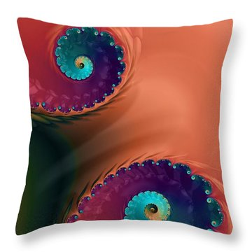 Throw Pillow featuring the  Life's Paths by Bonnie Bruno