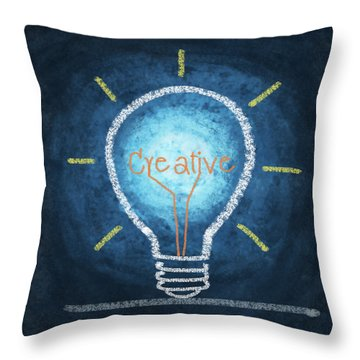 Light Bulb Design Throw Pillow by Setsiri Silapasuwanchai