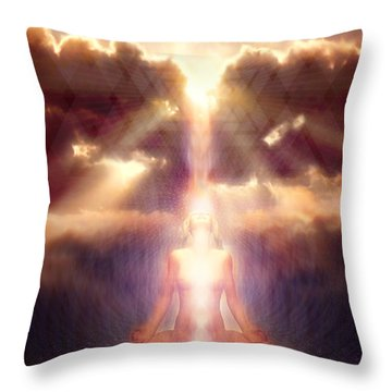Light Fall Throw Pillow by Robby Donaghey