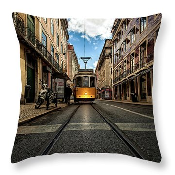 Light Throw Pillow by Jorge Maia