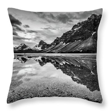 Light On The Peak Throw Pillow