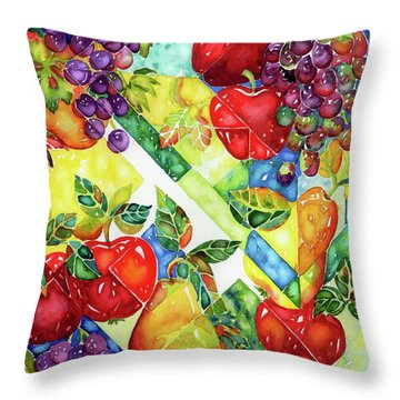 Light Through Glass Throw Pillow