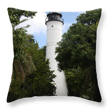 Throw Pillow featuring the photograph Lighthouse - Key West by Christiane Schulze Art And Photography