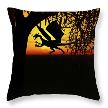 Lights And Shadow Throw Pillow by Michele Wilson