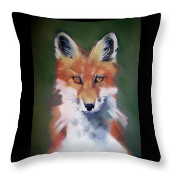 Lil' Rudy Throw Pillow by Marika Evanson