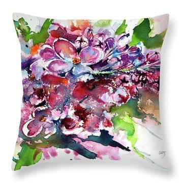 Lilac Throw Pillow by Kovacs Anna Brigitta