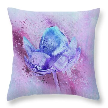 Throw Pillow featuring the digital art Lily My Lovely - S114sqc75v2 by Variance Collections