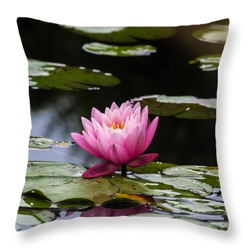 Lily Pad Flower Throw Pillow