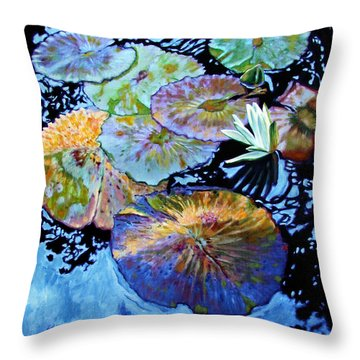 Lily Pad Palettes Throw Pillow