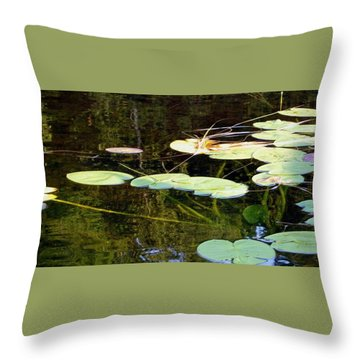 Lily Pads On The Lake Throw Pillow