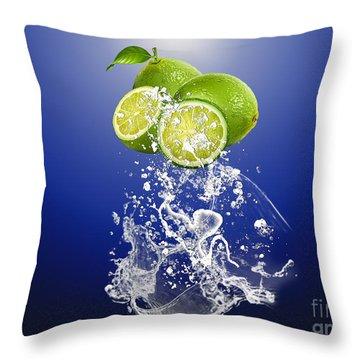Lime Splash Throw Pillow by Marvin Blaine