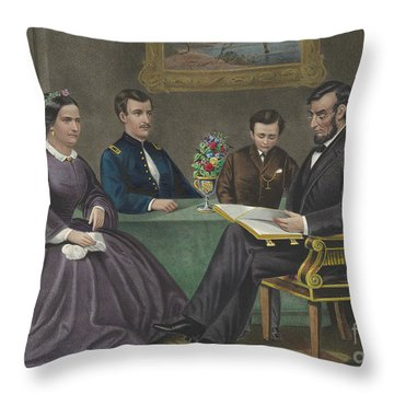 Lincoln At Home Throw Pillow
