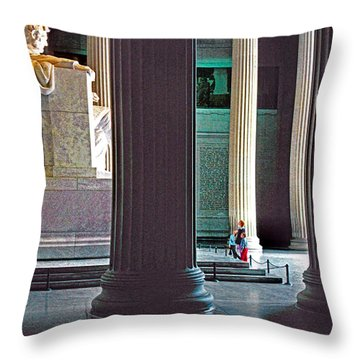 Lincoln Memorial Throw Pillow by Dennis Cox