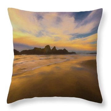 Lines In The Sand Throw Pillow