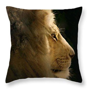 Lion Of Judah II Throw Pillow by Sharon Foster