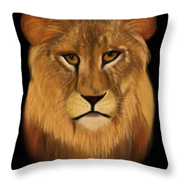 Lion - The King Of The Jungle Throw Pillow