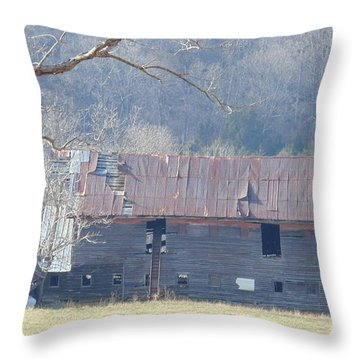 Little Barn Of North Garden Throw Pillow by Charlotte Gray